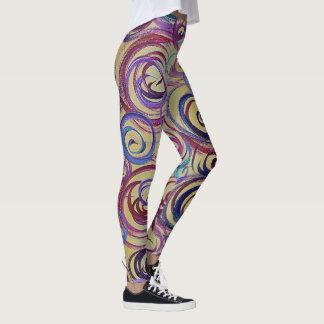 Leggings Polainas coloridas del diseño del remolino