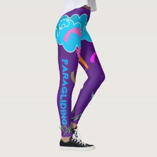 Leggings Polainas coloridas púrpuras del ala flexible