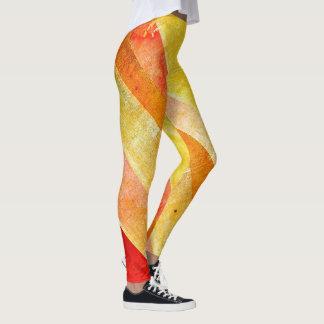 Leggings Polainas coloridas YOLO de la raya del caramelo de