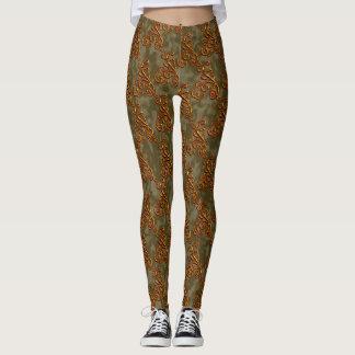 Leggings Polainas con clase elegantes verdes de Goldern