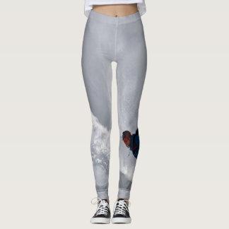 Leggings Polainas con gris del snowboarder