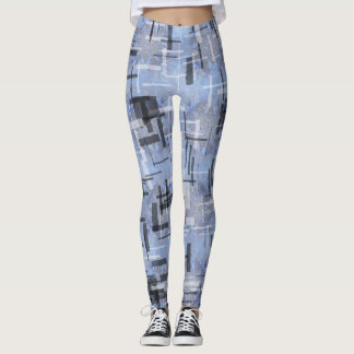 Leggings Polainas con los movimientos de azules y de grises