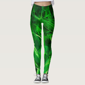 Leggings Polainas cristalinas verdes
