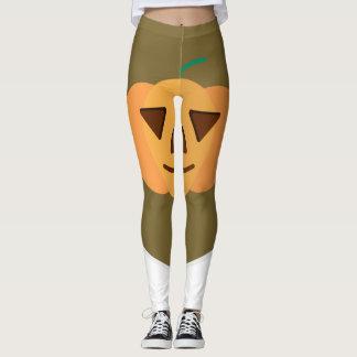 Leggings Polainas de Halloween de la calabaza