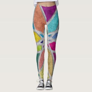 Leggings Polainas de la mandala para la yoga y Pilates