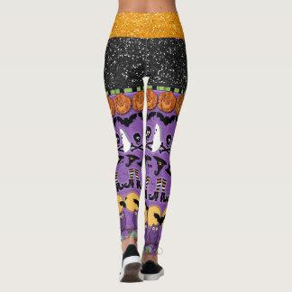 Leggings Polainas de la moda del estallido de Halloween