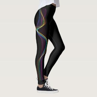 Leggings Polainas de la onda del color