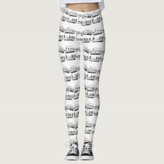 Leggings Polainas de la partitura musical
