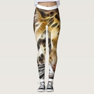 Leggings Polainas de la piel del tigre