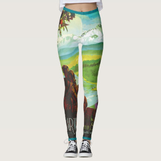 Leggings Polainas de la tierra de la NASA