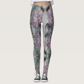 Leggings Polainas de las glicinias