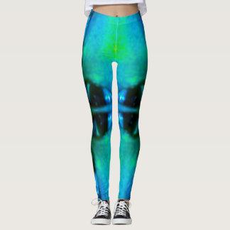 Leggings Polainas de Lotus azul