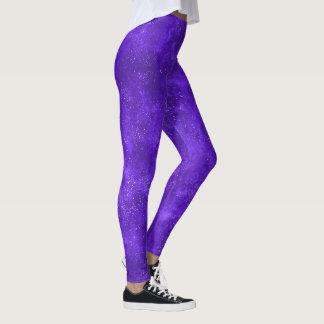 Leggings Polainas de moda de la galaxia ultravioleta