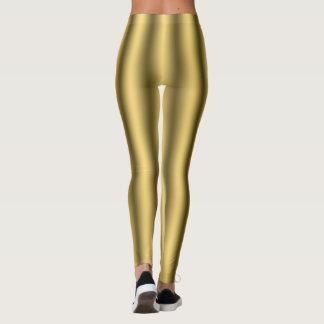 Leggings Polainas de oro de las rayas