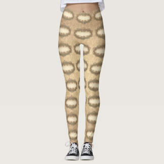 Leggings Polainas de oro del modelo del damasco