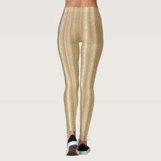 Leggings Polainas de oro del reflejo