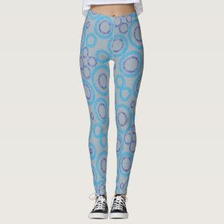 Leggings Polainas de plata y azules