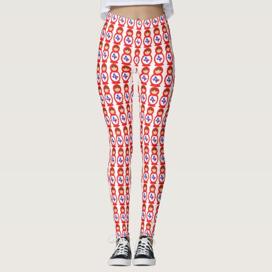 Leggings Polainas de Tejas Matryoshka
