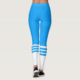 Leggings Polainas del calcetín del tubo de los azules