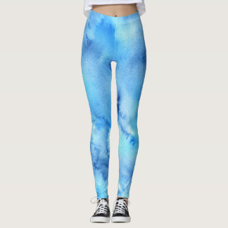 Leggings Polainas del color de agua azul