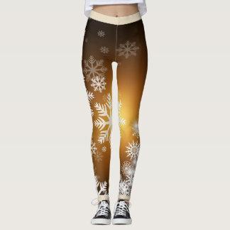 Leggings Polainas del copo de nieve