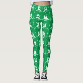 Leggings Polainas del día de St Patrick verde