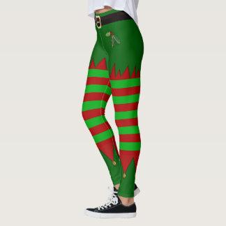 Leggings Polainas del duende del navidad