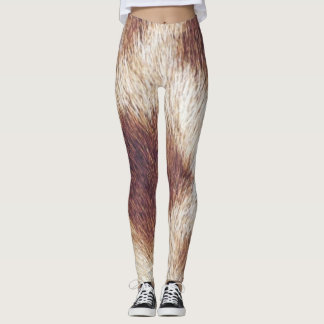 Leggings Polainas del estampado de girafa