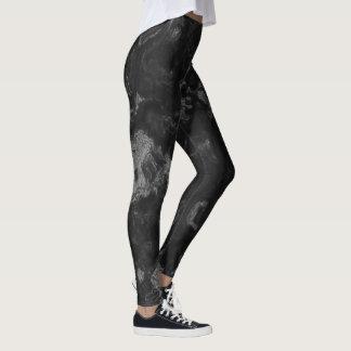Leggings polainas del gris ahumado y del negro