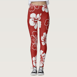 Leggings Polainas del hibisco