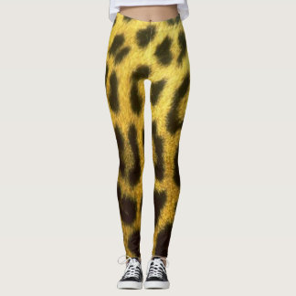 Leggings Polainas del leopardo