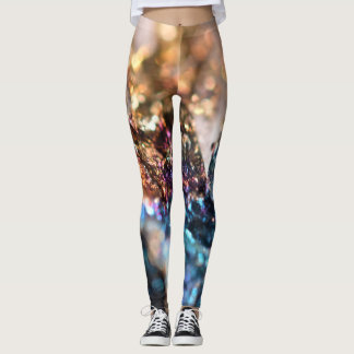 Leggings Polainas del mineral de pavo real