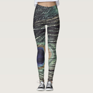 Leggings Polainas del penacho del pavo real