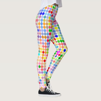 Leggings Polainas del punto del arco iris