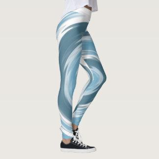 Leggings Polainas del remolino del agua azul