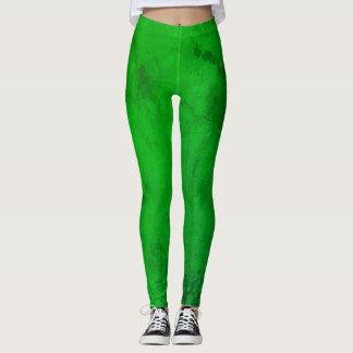Leggings Polainas del verde esmeralda