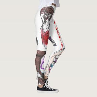 Leggings Polainas espeluznantes del collage