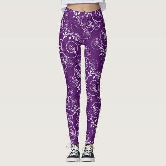 Leggings Polainas espirales púrpuras