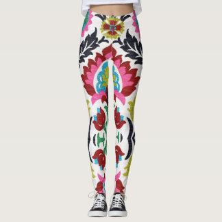 Leggings Polainas étnicas de los diseños del bordado