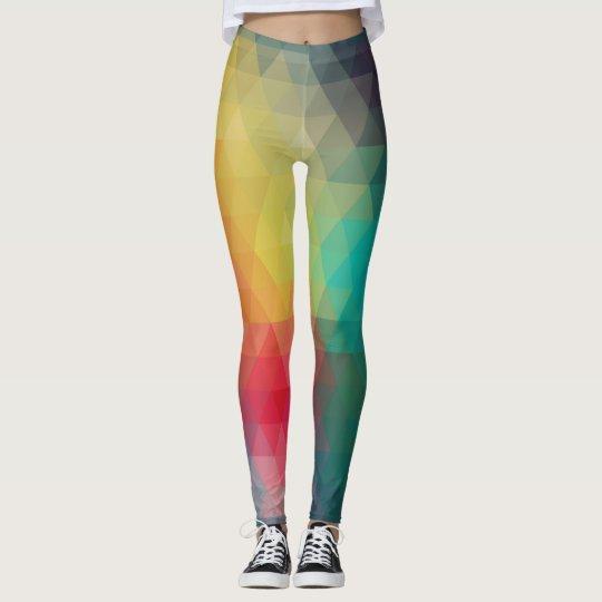 Leggings Polainas geométricas de los colores