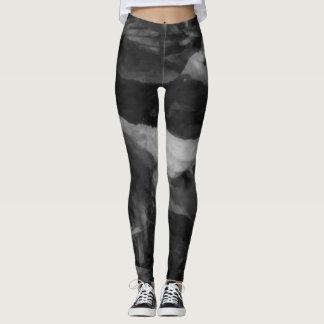 Leggings Polainas grises negras elegantes