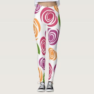 Leggings Polainas hermosas de la flor
