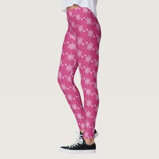 Leggings Polainas magentas del navidad del rosa lindo de