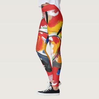 Leggings Polainas máximas coloridas del arte abstracto de