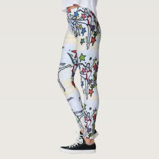 Leggings Polainas máximas coloridas del arte de las