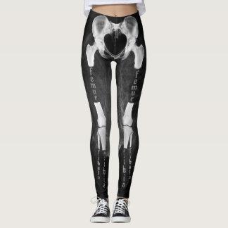 Leggings Polainas médicas del esqueleto de la anatomía de