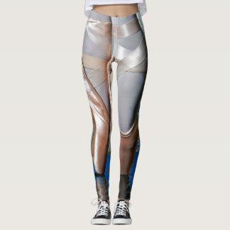 Leggings Polainas metálicas del ballet