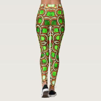 Leggings polainas modernas de moda verdes de la diversión