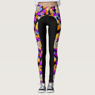 Leggings Polainas multi del diseño floral del color