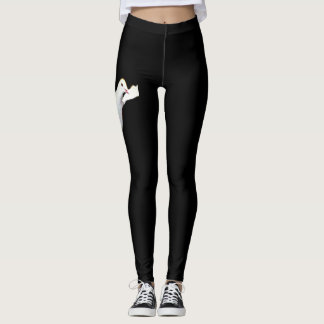 Leggings Polainas negras adornadas con la paloma